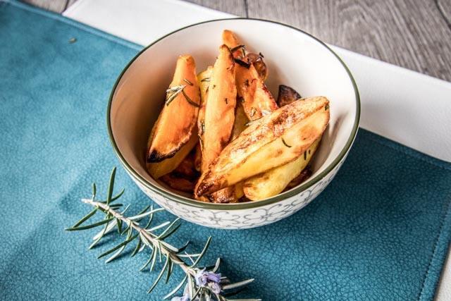aardappel en zoete aardappel in de oven