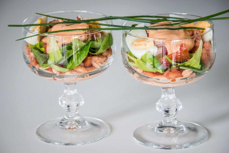 Verse cocktail met garnaaltjes