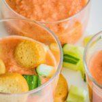 Zomerse gazpacho