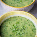 Zijdezachte soep van waterkers