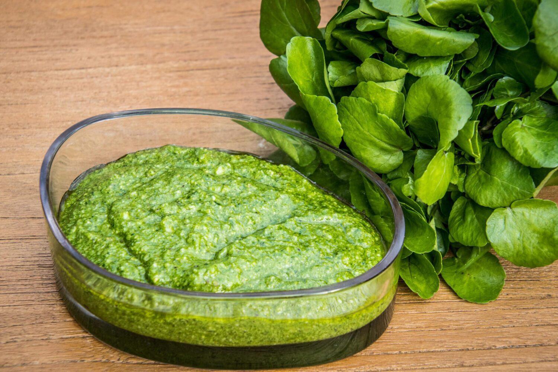 Pesto van waterkers en pistache