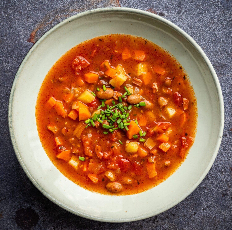 Stevige soep met kievitsbonen