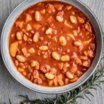 Stevige soep met borlottibonen