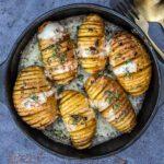 Hasselback aardappelen met taleggio en tijm