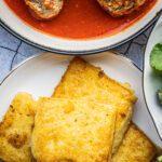 Gebakken polenta met parmezaanse kaas
