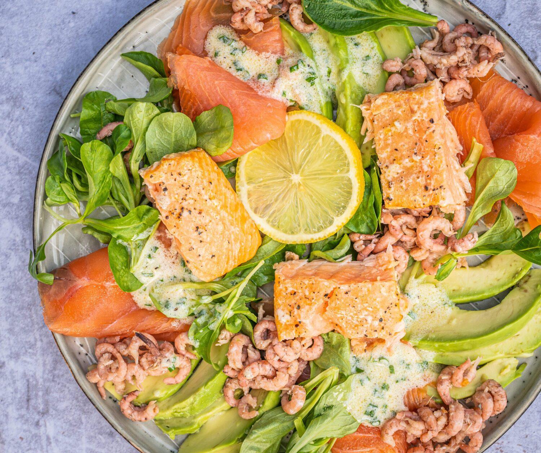Ocean salad met yoghurtdressing