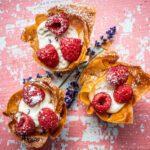 Filotaartjes met lavendelricotta